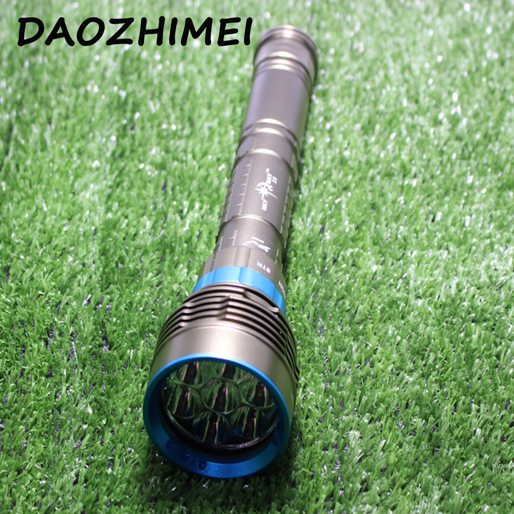 New 14000 Lumen Underwater 200M Torch 7 x CREE XM-L2 LED Scuba Diving Flashlight Diver Torch Light for 3x18650 or 26650 battery hot 10000 lumen 6x xm l l2 led scuba diving flashlight 200m waterproof diver torch light 26650 lanterna with battery charger