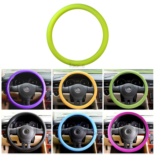 DWCX Fashional Decor Soft Silicone Steering Wheel Cover Shell Skidproof Odorless Eco-Friendly Protector For Lada Granta GOLF