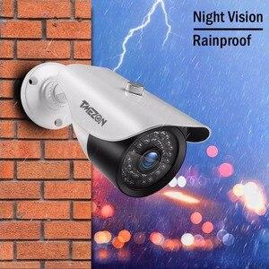 Image 5 - Tmezon 4 Pack/Set HD 1080 P Sistema de Câmera de Vigilância de Segurança Em Casa Ao Ar Livre Cam À Prova D Água Com Adaptador de Energia 60FT Cabo Estendido