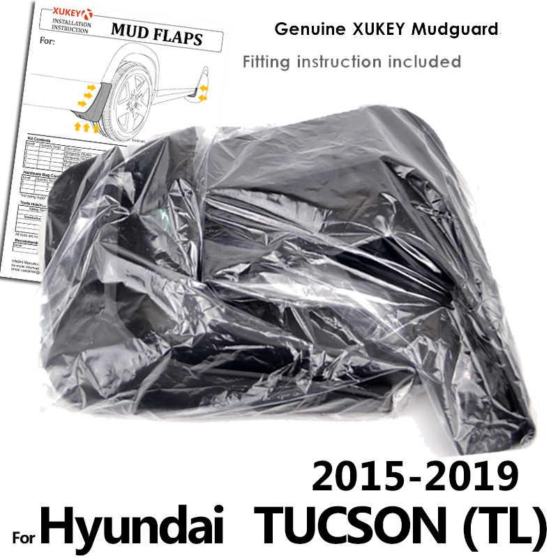 مجموعة واقيات الطين المصبوبة لهيونداي Tucson TL 2015-2019 واقيات الطين واقيات الطين والدرابزين الأمامي 2016 2017 2018