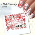1pcs Beauty Water Transfer Nail Stickers Sweet Valentines Day 3D Nail Stickers Tips Sticker Design Nail Art Decoration Manicure