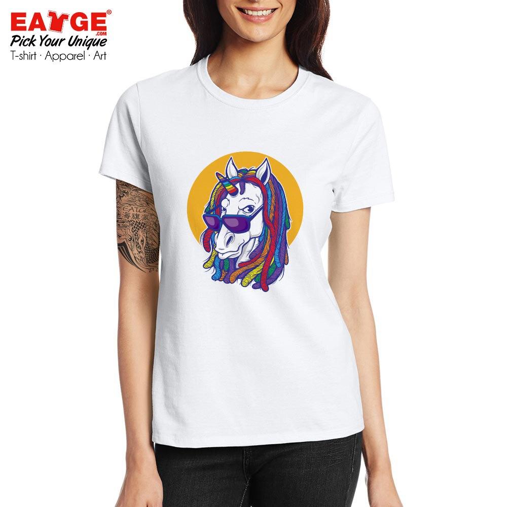 US $9 89 45% OFF|Unicorn Rasta T Shirt Rainbow Dreadlocks Creative Style  Design T shirt Hip Hop Active Novelty Unisex Men Women Tee-in T-Shirts from