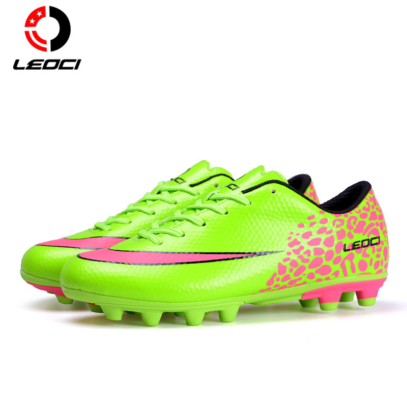 LEOCI Unisex Adult and Children F Soccer Boots Firm round Football Shoes Chaussure De Football For All Season Size 33-44 tiebao e1018c professional kids indoor football boots turf racing soccer boots training football shoes