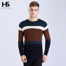 2016 New Arrival High Quality O-Neck Striped Cashmere Wool Sweater Men Casual Pullover Men Brand Clothing Pull Homme Shirt 6608