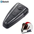 Motocicleta Del Casco de Bluetooth BT Interphone Intercom 500 Metros A Prueba de agua Altavoz Bluetooth Headset Casco o MP3 FM GPS