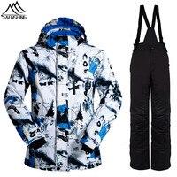 Saenshing Winter Suit Men S Ski Suit Size 3XL Waterproof Skiing Jacket Snowboard Pant Snow Set