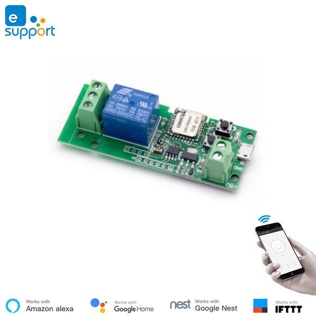 EweLink Smart USB 7-32V DIY 1 Channel Jog Inching Self-Locking WIFI Wireless Smart Home Switch, Voice Remote Control with Alexa 5