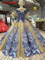 HSDYQHOME Роскошные бальное платье вечерние платья высокое качество 2018 удивительные Пром вечерние платья пикантные вечерние платье