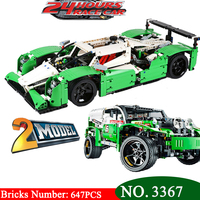 DECOOL 3364 Technic series the 24 Hours Race Car model Building Blocks set Compatible 42039 classic car styling toys gifts
