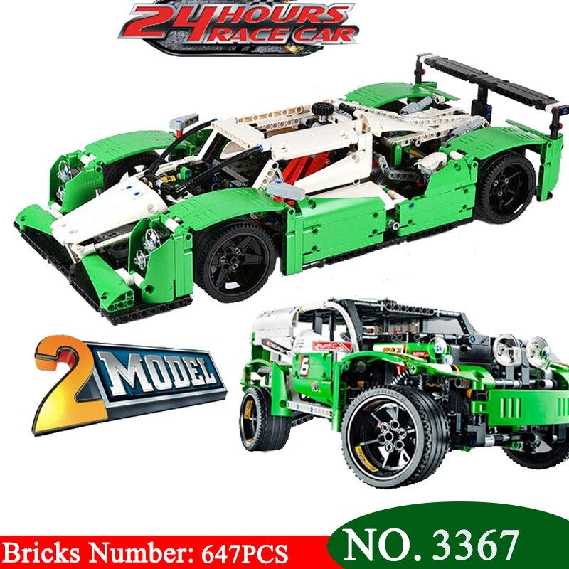 Décool 3364 Technic série les 24 heures de voiture de course modèle de blocs de construction ensemble Compatible 42039 classique voiture-style jouets cadeaux