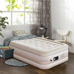 Nadmuchiwane kołdra góry podniesiony ulepszony luksusowe Airbed nowoczesny wysoki jakość plac miękkie łóżka sypialni meble HW58938US w Łóżka od Meble na
