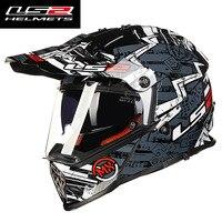 LS2 Mx436 Mens Motocross Helmet Dual Lens Racing Motorcycle Helmets Moto Cross Off Road Full Face