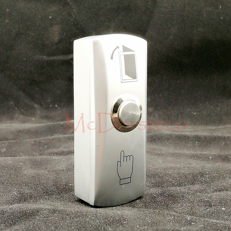 Free shipping stainless steel door release switch emergency exit button silver keys for Narrow Door access control system