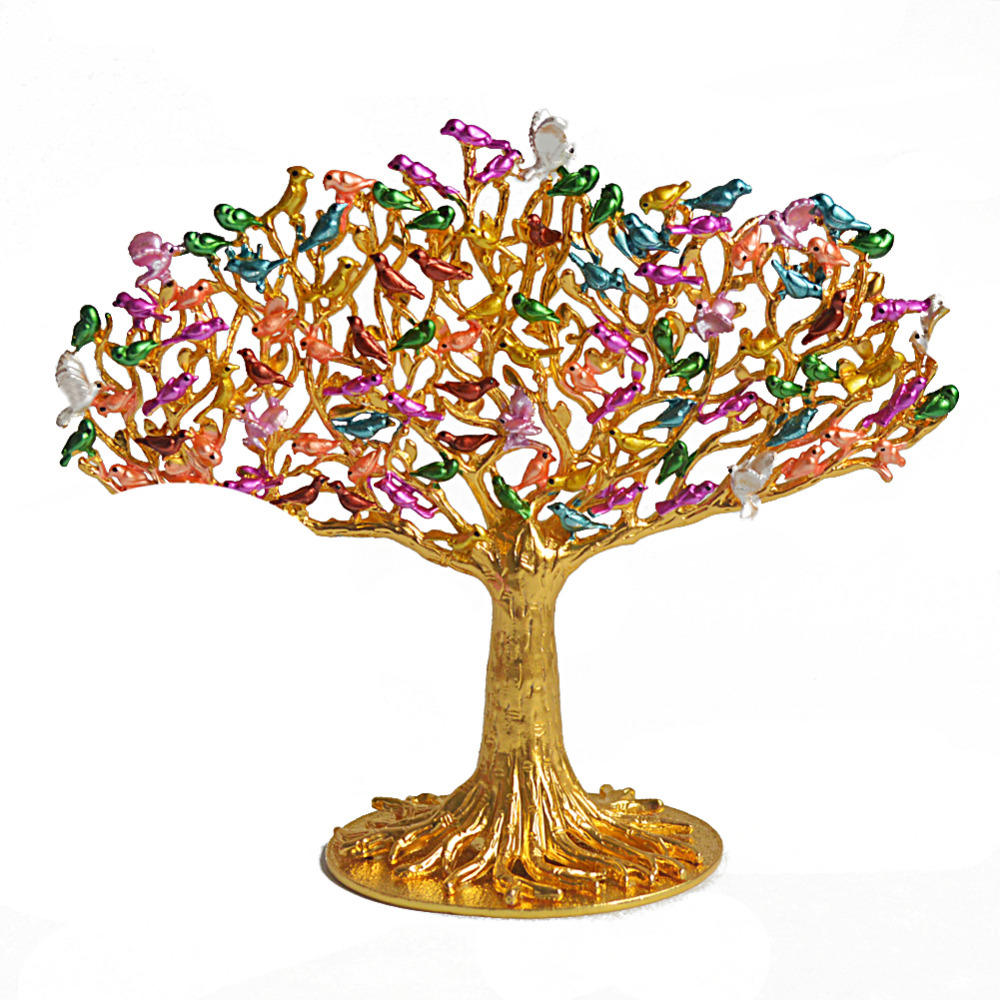 Feng Shui 100 Birds on Wish Fulfilling Tree W Mandarin Ducks W Free Fengshuisale Red String