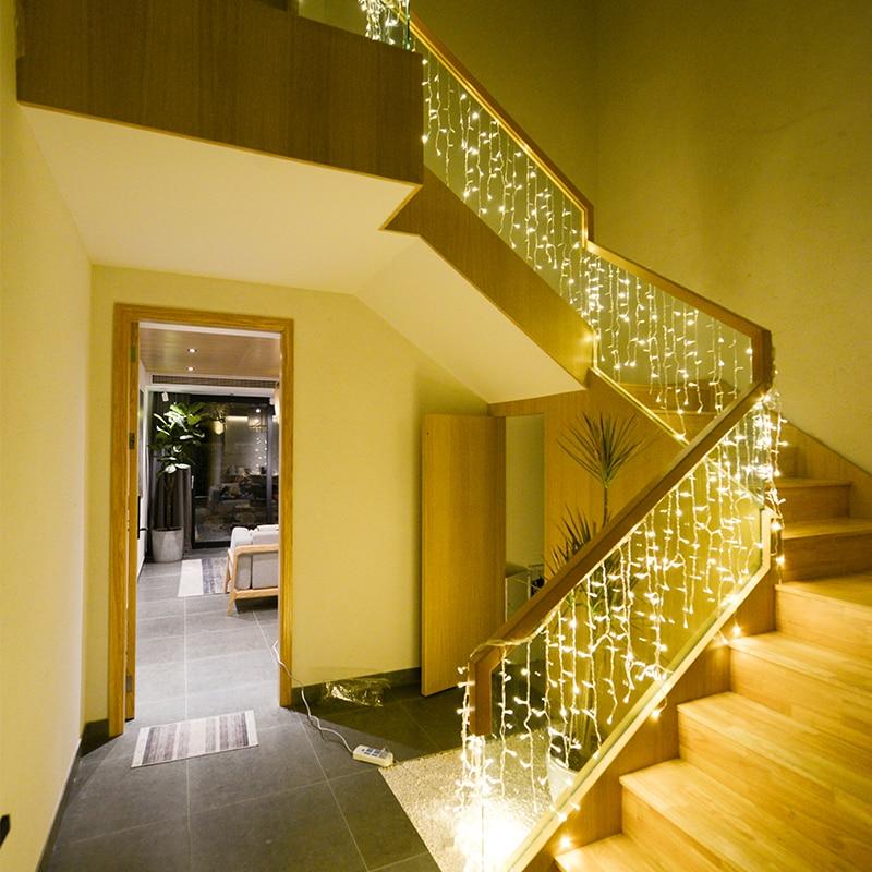 JSEX LED rideau glaçon chaîne lumière Faily lumières vacances éclairage noël affaire guirlande 220V intérieur extérieur décoration de la maison