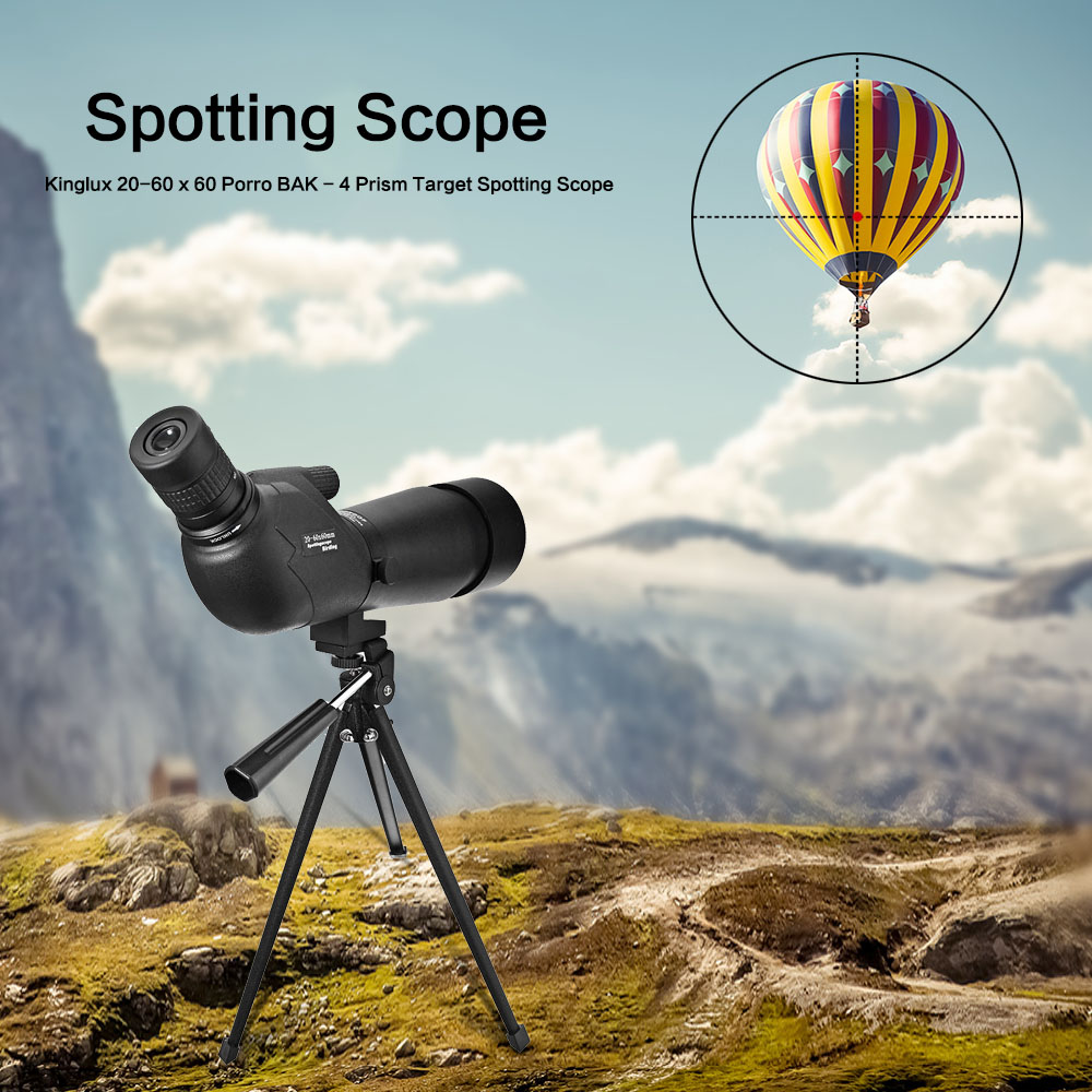 цены Professional Black HD Monocular Telescope 20-60 x 60 Porro BAK4 Prism Target Spotting Scope Outdoor Adjustable Binocular