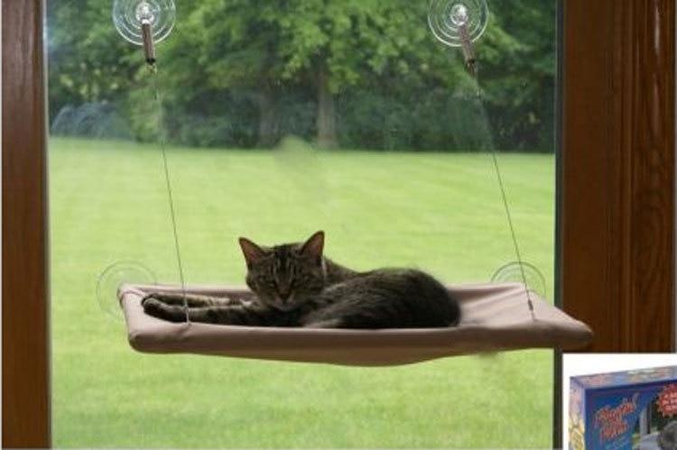 1 Pc New Cat Window Mounted Sunshine Pet Wall Bed Cat Hammock H20581