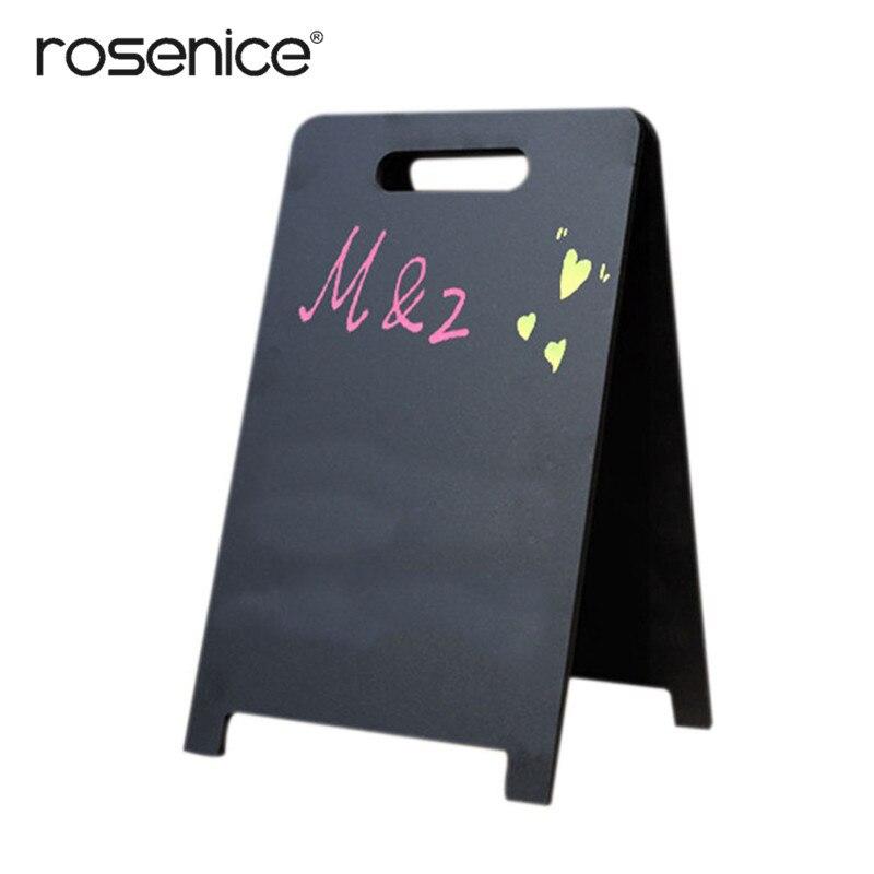 Duplex Mini Rechthoek Krijtborden Met Ondersteuning Voor Message Board Tekenen Bruiloft Diner Party Tafel Plaats Kaart Borden 18x30 Cm