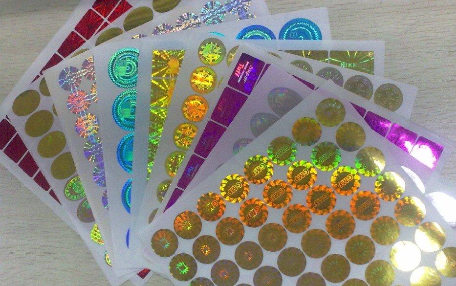 Etiqueta engomada holográfica láser de holograma antifalso personalizada envío gratis por DHL-in Adhesivos de papelería from Suministros de oficina y escuela    1