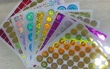Özel anti sahte Hologram Lazer Holografik yapışkan etiket DHL tarafından Ücretsiz Kargo