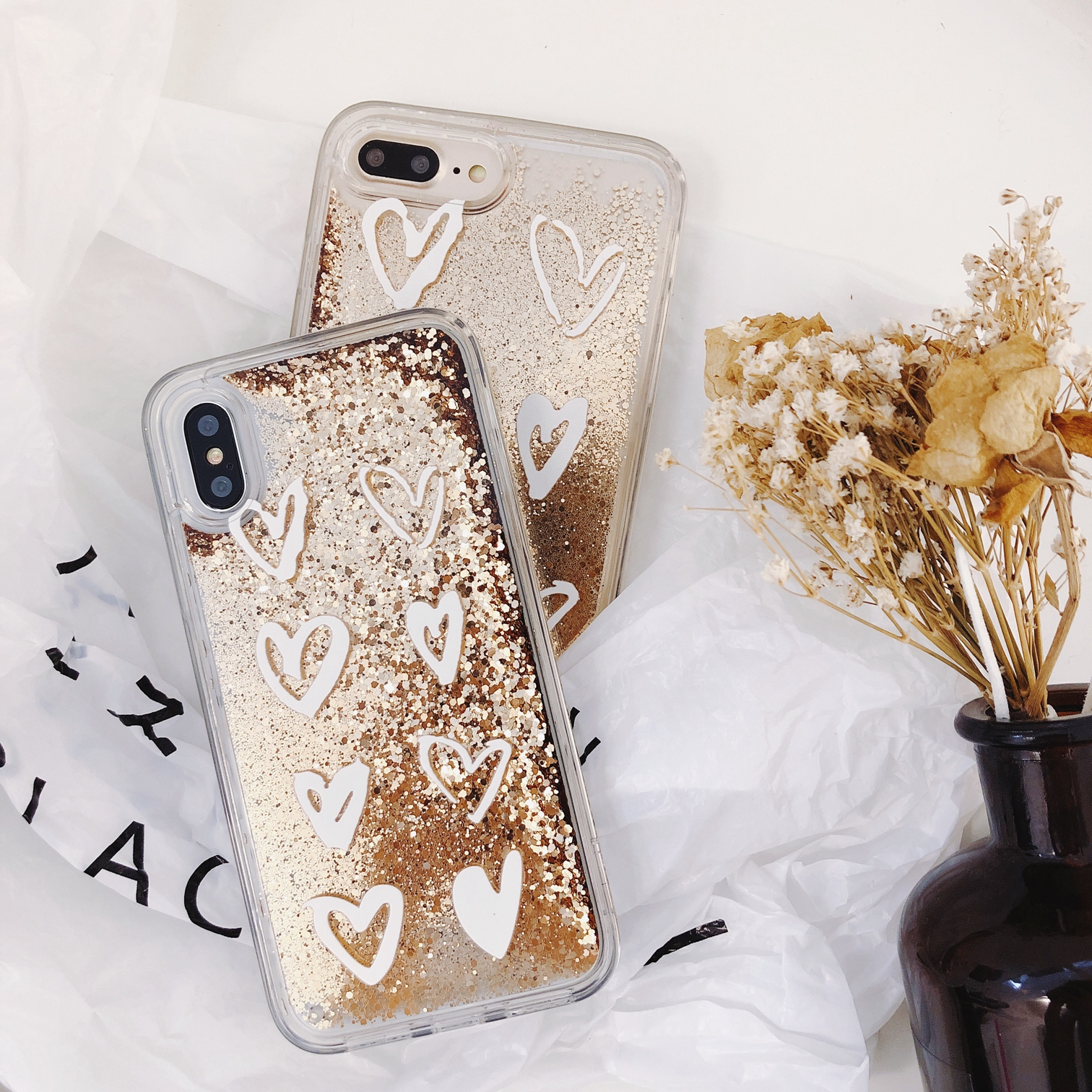 Phone Pouch Phone Bags & Cases Haianguo For Iphone 7 Case Glitter Bling Liquid Sand Star Quicksand Soft Case For Iphone 6s Case 5s Se 6 7 8 Plus Iphone X Case