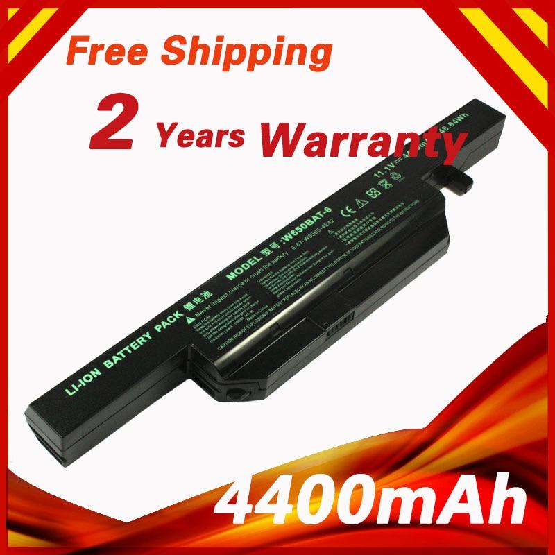 4400mAh battery for Clevo W650BAT-6 6-87-W650-4E42 K590C-I3 K610C-I5 K570N-I3 K710C-I7 G150SG G150S K650D K750D K4 K5 P4 P5 origianl clevo 6 87 n350s 4d7 6 87 n350s 4d8 n350bat 6 n350bat 9 laptop battery