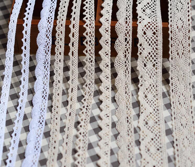 10 ярд / много хлопка кружевной отделкой декоративные ленты дома DIY швейные свадебный ремесла украшения ручной работы
