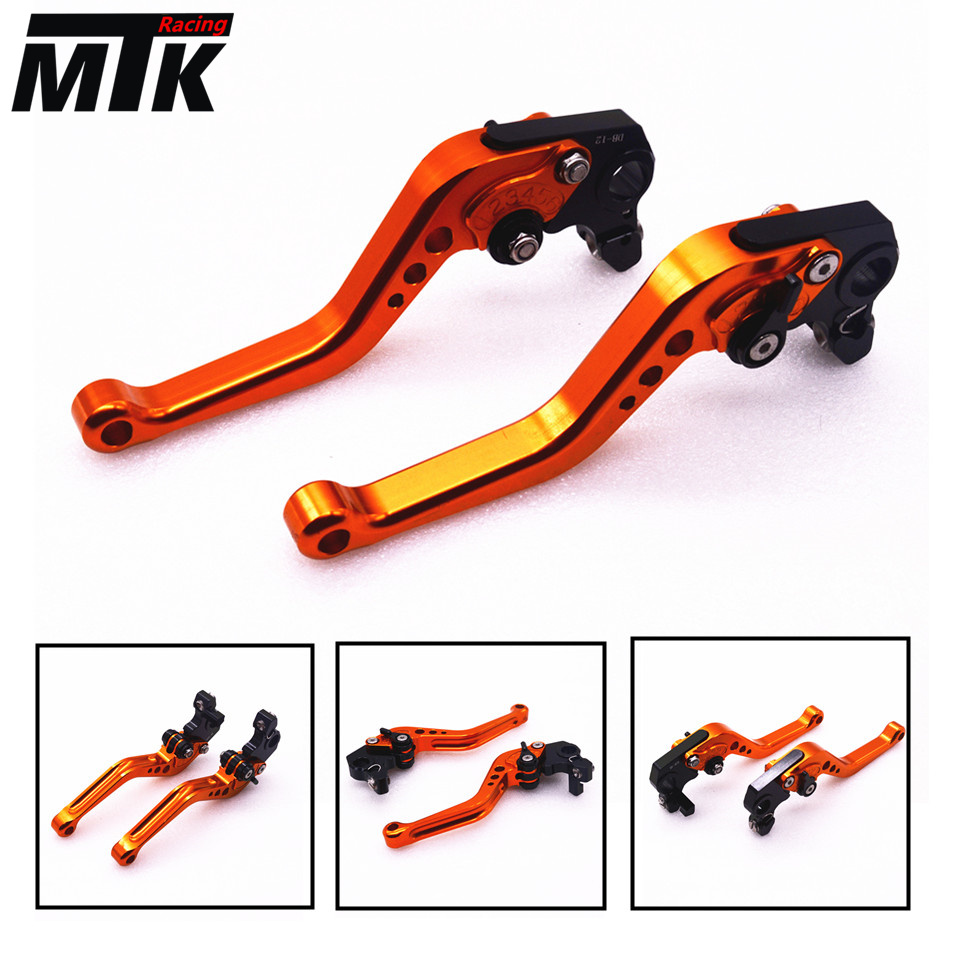 MTKRACING CNC Aluminum Brake Clutch Levers Set Short Adjustable Lever For KTM ADVENTURE 1050 690 Duke/SMC/SMCR 690 Enduro R motorbike brakes lever cnc adjustable foldable lengthening brake clutch levers for ktm duke 125 125duke duke 390 2013 2017