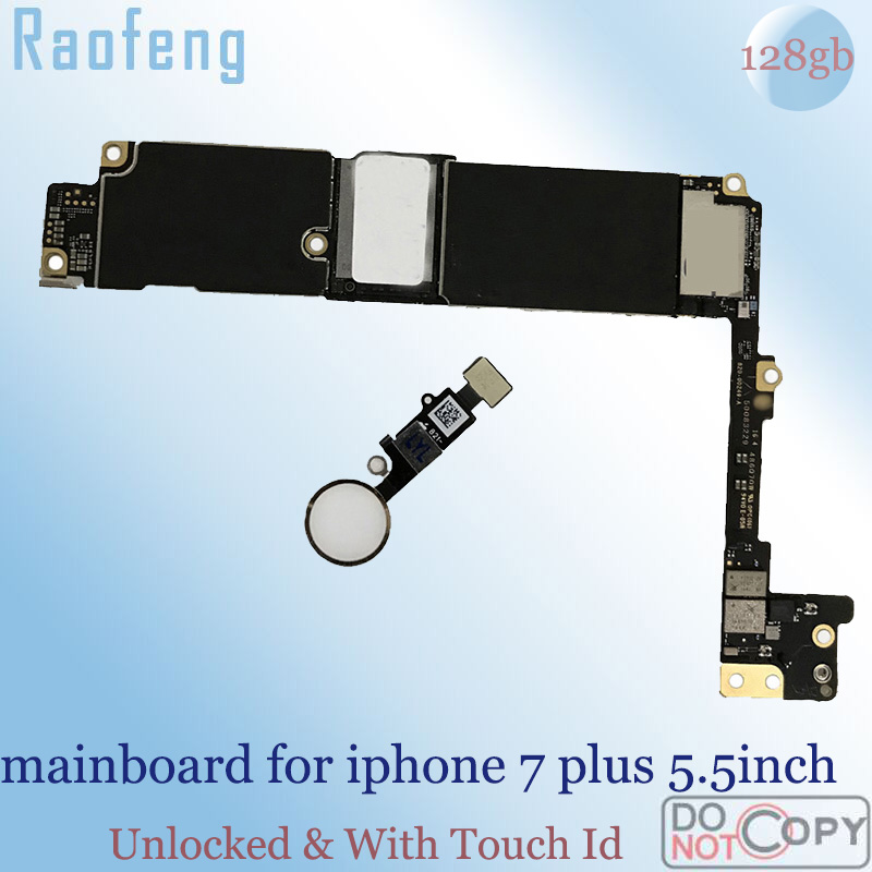 Raofeng iPhone with Touch-Id Unlocked for 7-plus/5.5inch/Mainboard 128GB Chips Ios Work