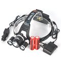 Boruit 3x XM-L T6 LED 8000Lm Head Lamp 18650 Lantern Headlamp Headlight kafa lambasi + Battery /AC Car  Charger