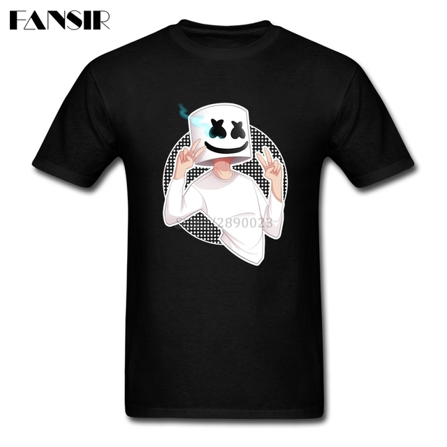 t shirt criativo dos homens dj marshmello roupas dos homens t