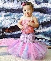 Grils Princesse Carnaval Partie Robe Enfant Filles Sirène Cosplay Costume Fantaisie Robe Enfants Baignade Sirène Queues Costume Robe