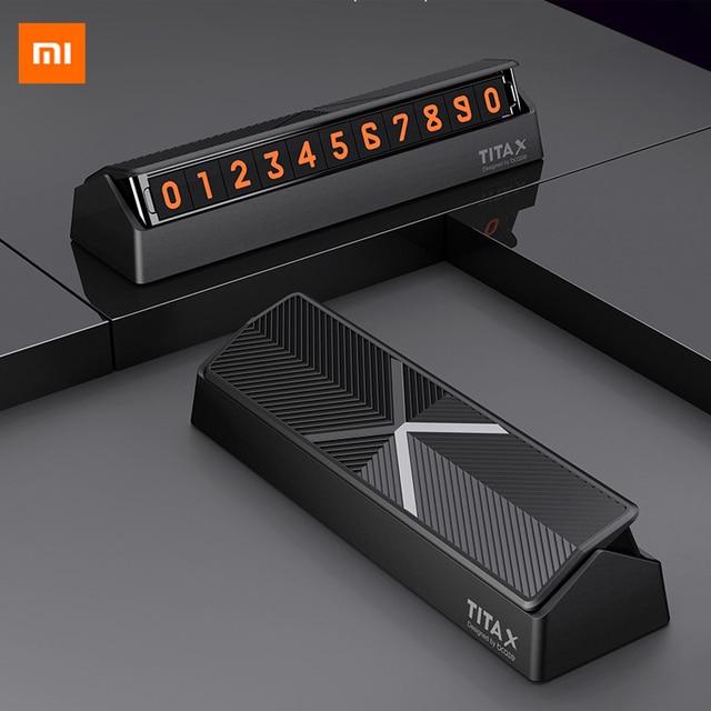 新 Xiaomi Mijia ティタ × 車の駐車番号ホルダーソフトマグネットフロントガラス一時的なカードステッカー DIY 電話番号