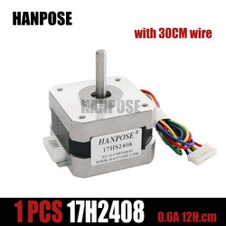 Free shipping and Quality 17HS2408 4-lead Nema 17 Stepper Motor 42 motor 42BYGH 0.6A CE ROSH ISO CNC Laser and 3D printer