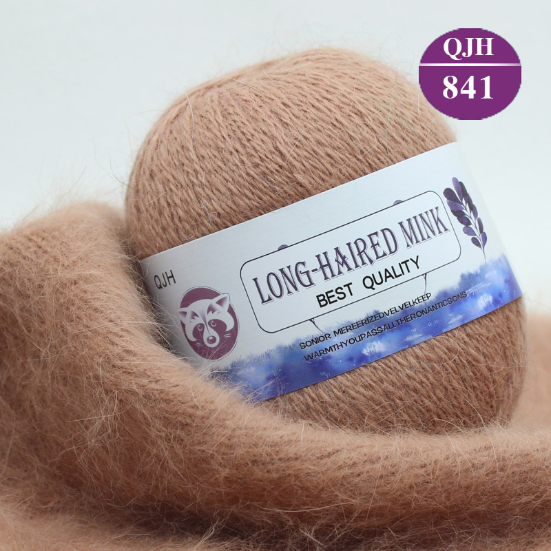 1kg 20ps High Quality Soft Mink Velvet Wool Yarn for Hand Knitting Luxury Long Plush Wool