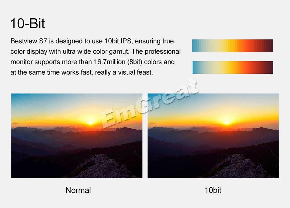 Bestview S7 4K 7 pulgadas HD Pantalla LCD de campo HDMI 1920 * 1200 + - Cámara y foto - foto 2