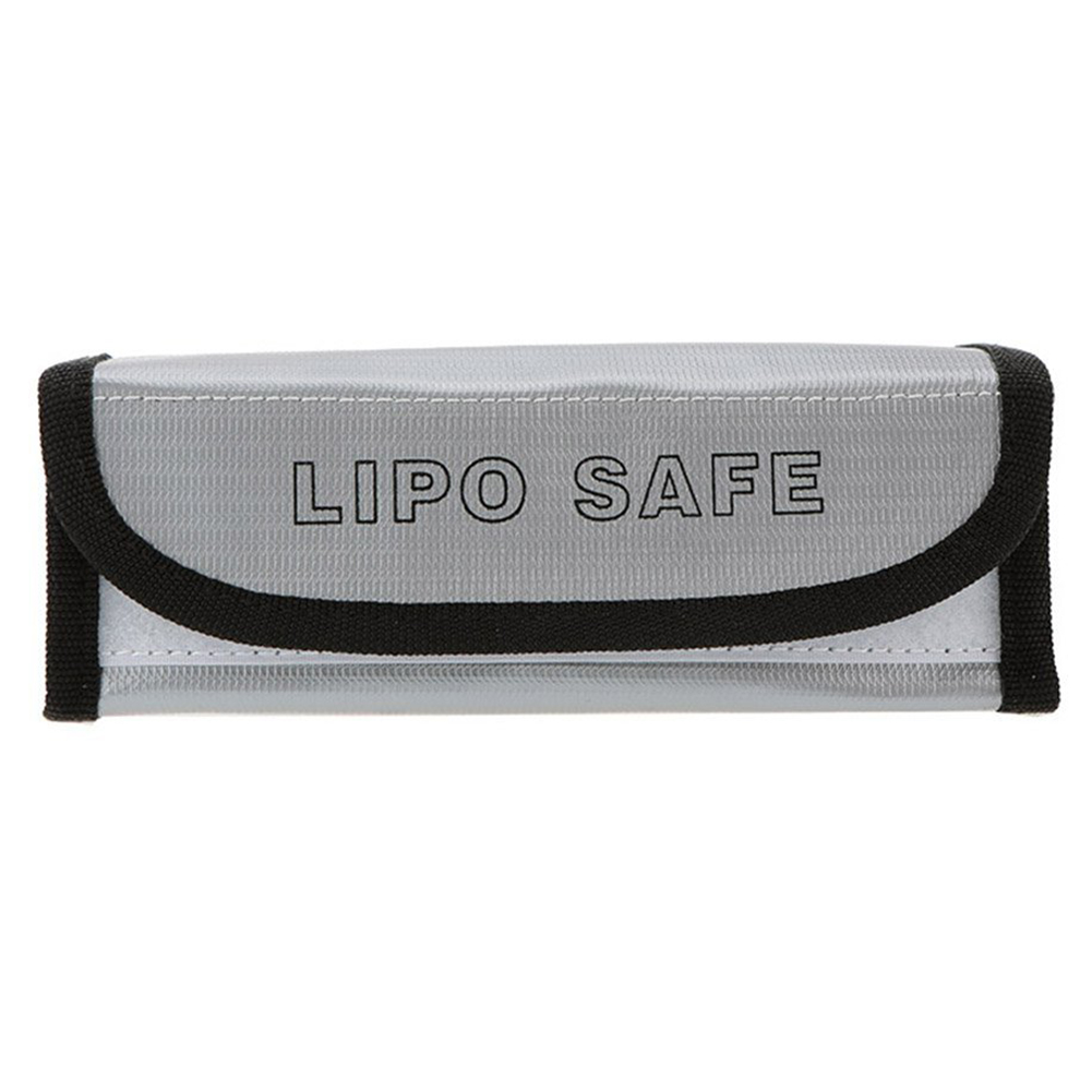 18.5 * 7.5 * 6cm Silver High Quality Glass Fiber RC LiPo Battery Safety Bag Safe Guard Charge Sack