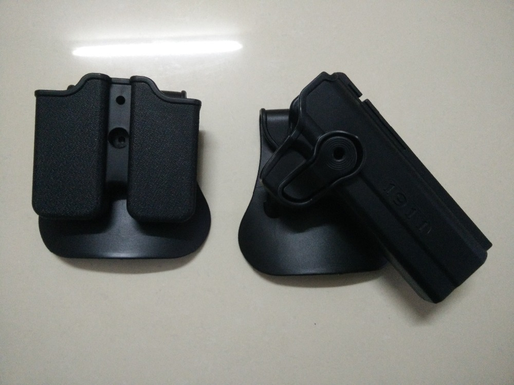 IMI DEFENSE Polymer Retention Roto Holster and double magazine holster Fits 1911 Style image