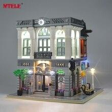 MTELE Kit de lumière LED pour créateur briques, banque verte, ensemble déclairage Compatible avec 10251 (modèle non inclus)