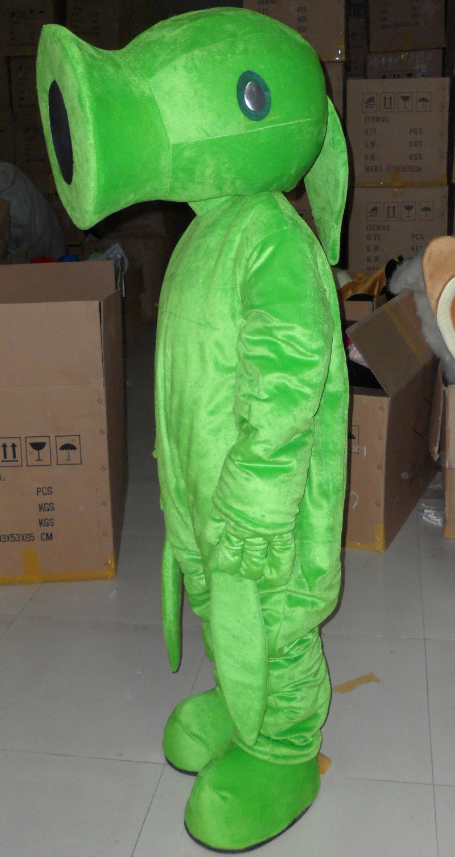 Pea Shooter Mascot Costume Fancy Dress Custom Cosplay Theme Mascotte Carnival Costumes Adults Plant Vs Zombies Pea Shooter in Mascot from Novelty Special Use
