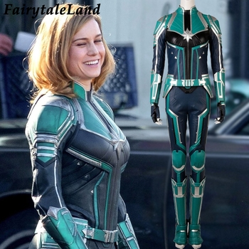 2019 Carol Danvers Captain Marvel costume Halloween superhero Captain  Marvel jumpsuit