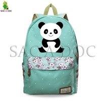 Panda Unicorn Funny Backpack for Teenagers Girls Daily Backpack Floral Wave Point School Bags Kawaii Panda Travel Rucksack