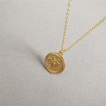 Real Silver 925 Necklace Roman Coin Pendant Necklace For Women Vintage Layered Choker Minimalist Disc Chokers Necklaces Jewelry peri sbox 925 sterling sliver face pendant chokers necklace minimalist coin disc choker necklaces chic layered chain necklaces