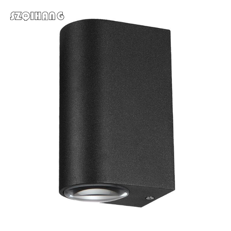 2X5W IP65 Waterproof Modern Wall Lamp Up Down Dual Head Cylinder COB LED Porch Lights for Garden Outdoor Lighting AC 85 265V