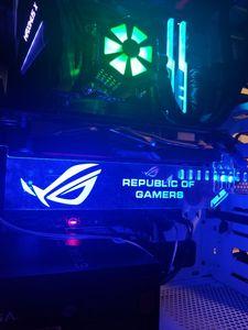 Image 5 - Özel yapılmış akrilik dirsek kullanımı Brace için GPU kartı RGB ışık boyutu 280*45*6mm düzeltme kartı uyumlu AURA sistemi 12V RGB
