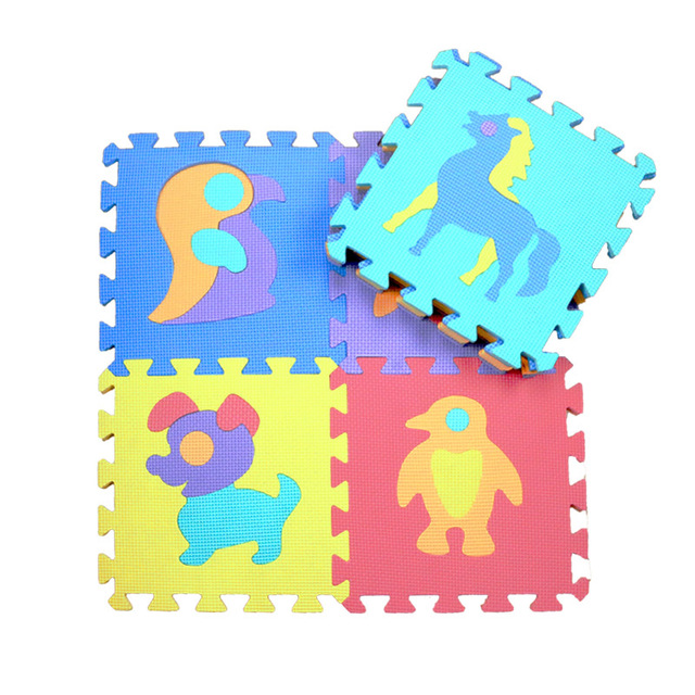 10PCS Educational Baby Play Mat Eva Foam Number Animal Interlocking Puzzle Carpet Mat Developing Crawling Mat Kids Gym PlayMatBaby & Toddler Toys