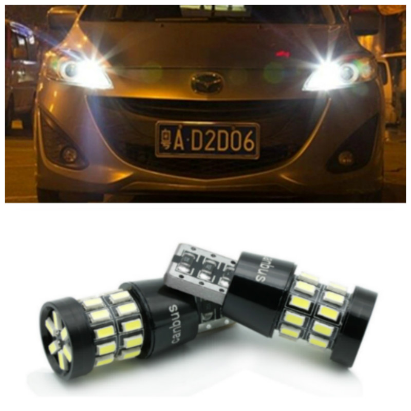 2x <font><b>LED</b></font> Canbus T10 W5W 3014 30SMD Car <font><b>LED</b></font> Light Lamp Bulb For <font><b>Mazda</b></font> 3 6 5 Spoilers CX-5 CX 5 <font><b>CX7</b></font> CX-7 2 323 CX3 CX5 626 M3 M5 MX5 image