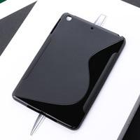 case ipad SLINE Black Cover Case For Apple iPad Mini 1 2 3 Case Silicon Soft TPU Tablet iPad Mini1 Mini2 Mini3 Bumper Absorption 7.9 inch (3)