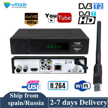 Smart DVB-T2 DVB-T Receiver HD Digital TV Tuner Receptor Youtube MPEG-4 DVB-T H.264 Terrestrial decoder TV Receiver Set Top Box цена и фото