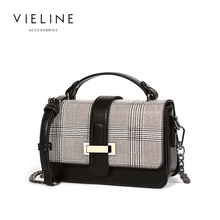 Vieline  women classic chains shoulder bag ,fashion Plaid printed bag,hot sale ins tote,free shiping